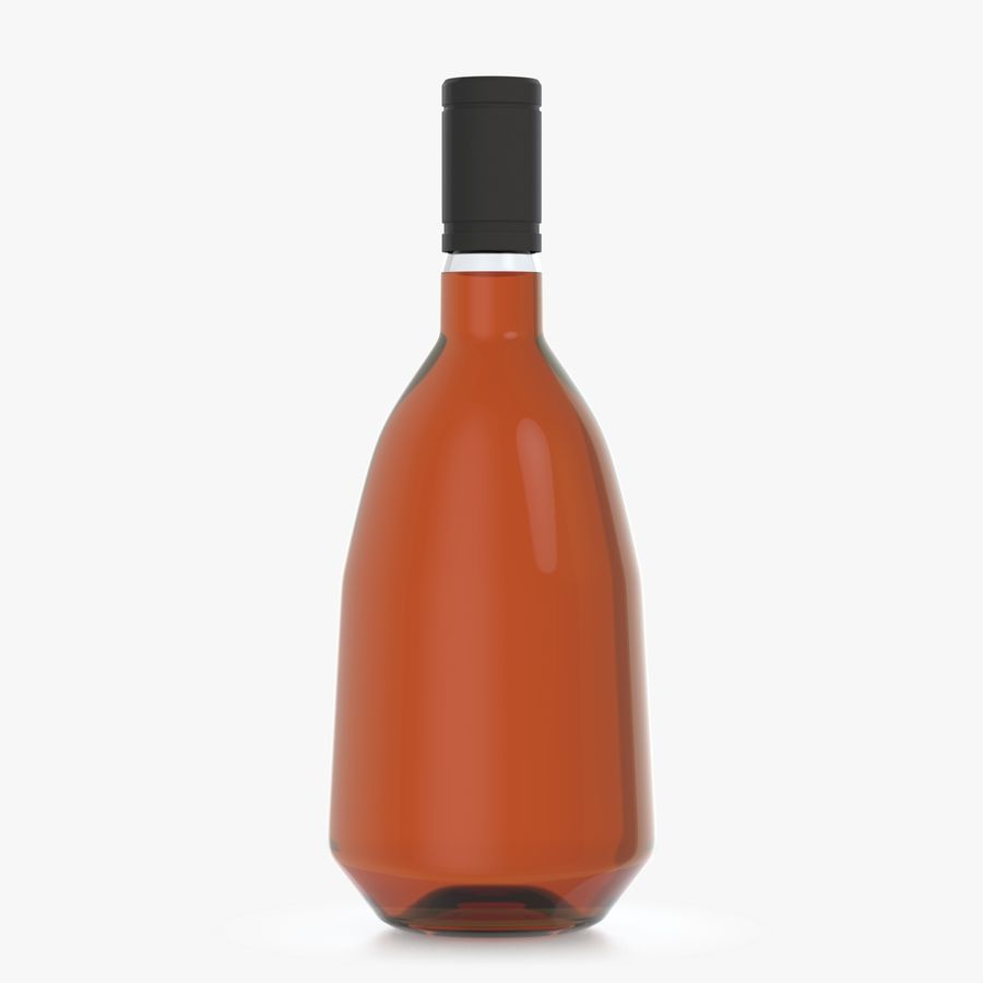 alcohol bottle (13) royalty-free 3d model - Preview no. 2