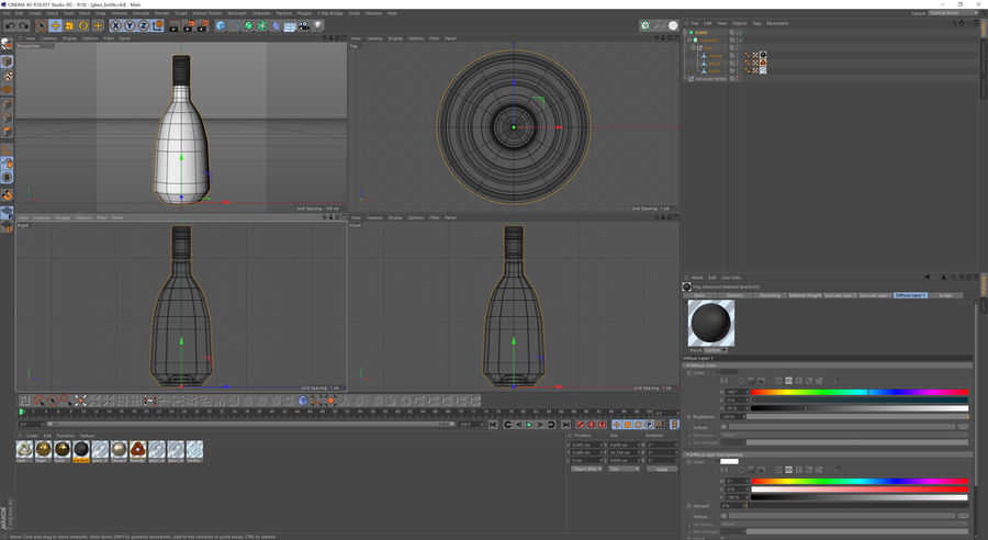 alcohol bottle (13) royalty-free 3d model - Preview no. 10