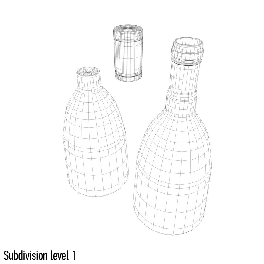 alcohol bottle (13) royalty-free 3d model - Preview no. 9