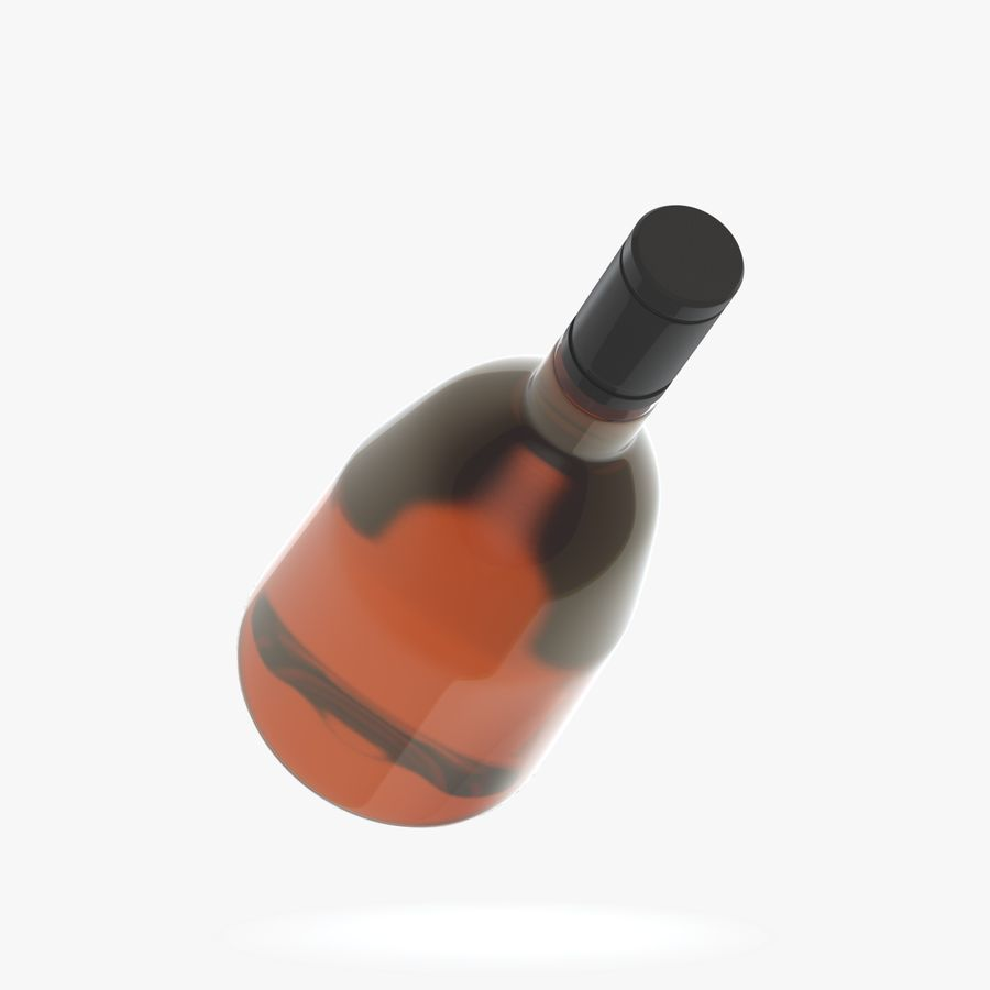 alcohol bottle (13) royalty-free 3d model - Preview no. 5
