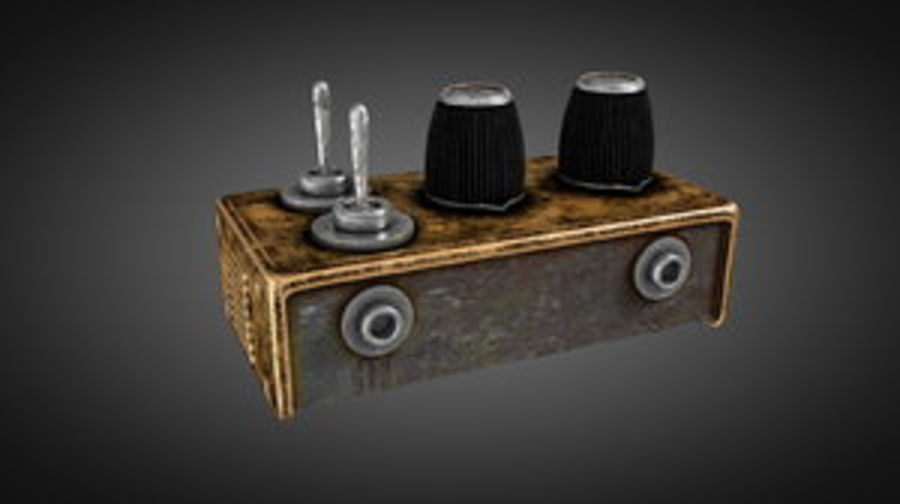 Switcher elettronico vintage royalty-free 3d model - Preview no. 1