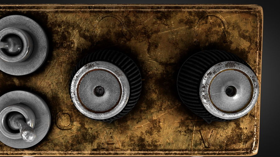 Switcher elettronico vintage royalty-free 3d model - Preview no. 5