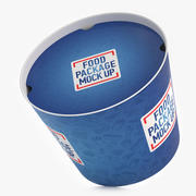 Fast Food bucket with cap 3d model