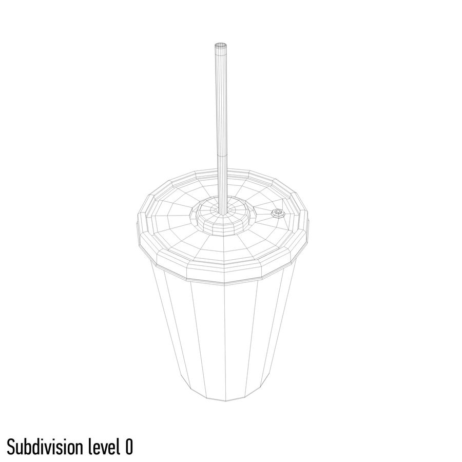 Drink cup royalty-free 3d model - Preview no. 7