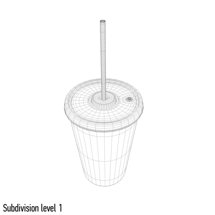 Drink cup royalty-free 3d model - Preview no. 8