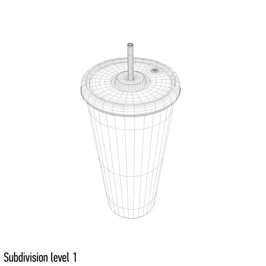 Fast Food İçki Bardağı royalty-free 3d model - Preview no. 8