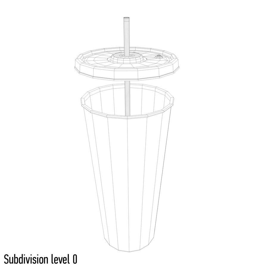 Fast Food İçki Bardağı royalty-free 3d model - Preview no. 9