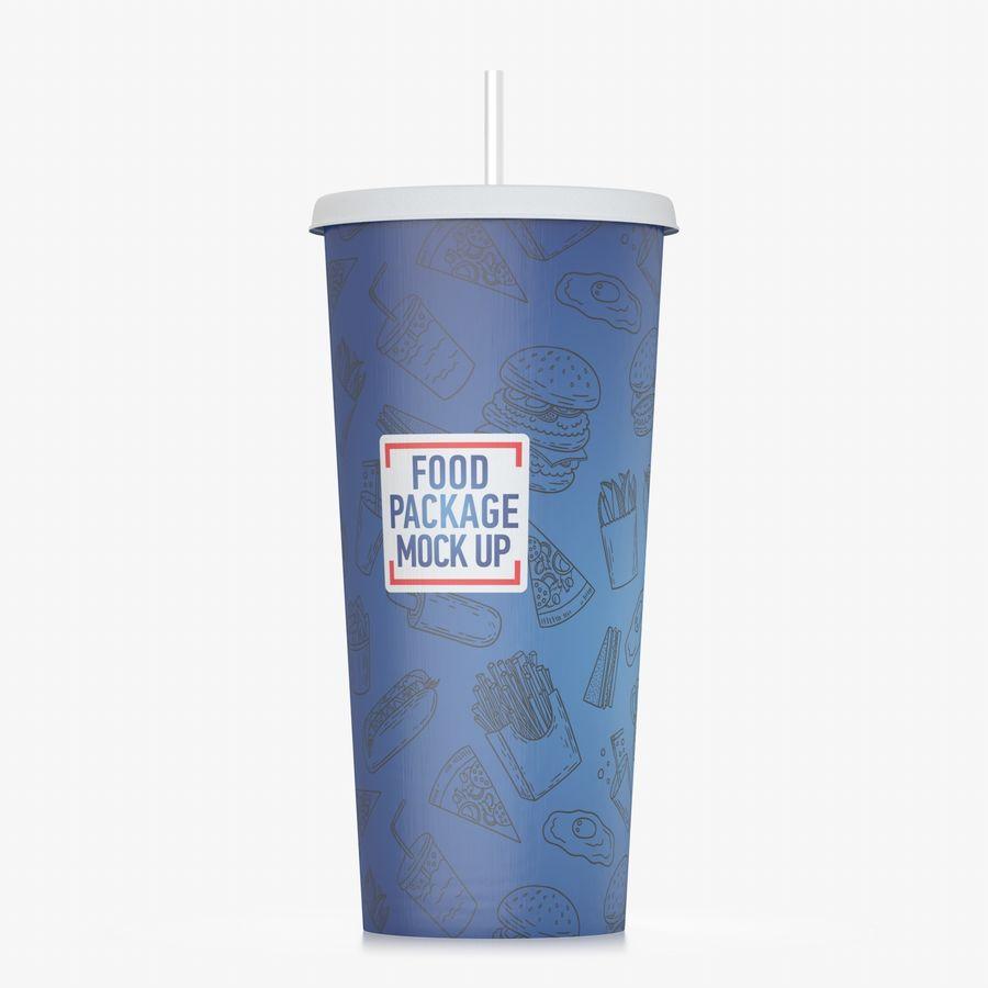 Fast Food İçki Bardağı royalty-free 3d model - Preview no. 2
