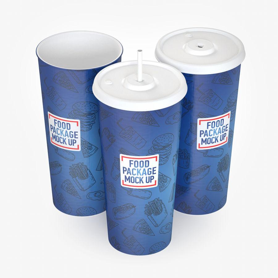 Fast Food İçki Bardağı royalty-free 3d model - Preview no. 1
