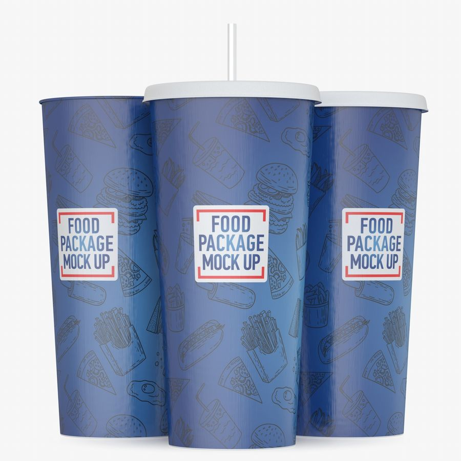 Fast Food İçki Bardağı royalty-free 3d model - Preview no. 6