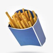 Patates kızartması paketleme 3d model
