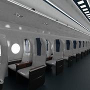 Airplane Economy class cabin interior 3d model