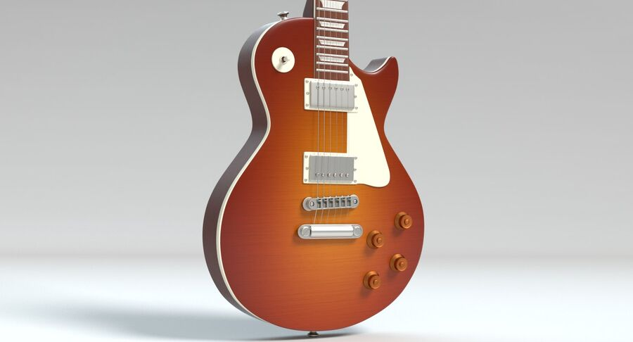 Guitare électrique royalty-free 3d model - Preview no. 6