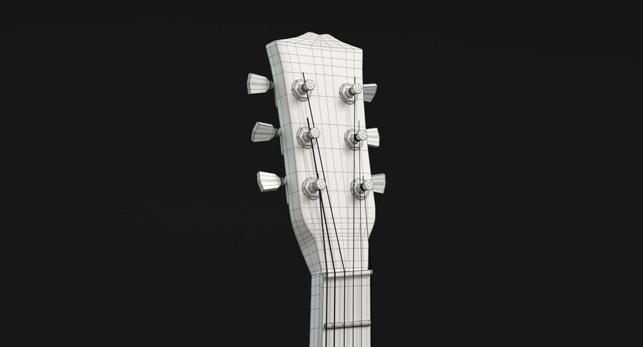 Elgitarr royalty-free 3d model - Preview no. 18