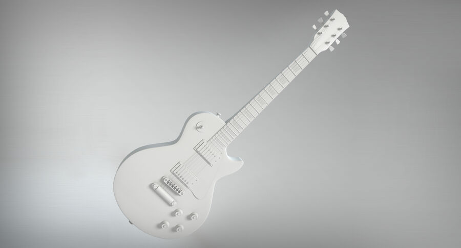 Elgitarr royalty-free 3d model - Preview no. 13
