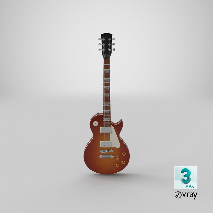 Elgitarr royalty-free 3d model - Preview no. 22