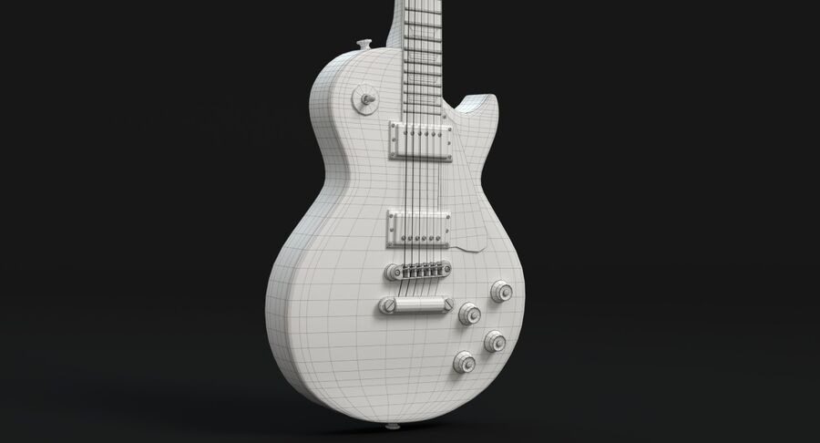 Elgitarr royalty-free 3d model - Preview no. 17