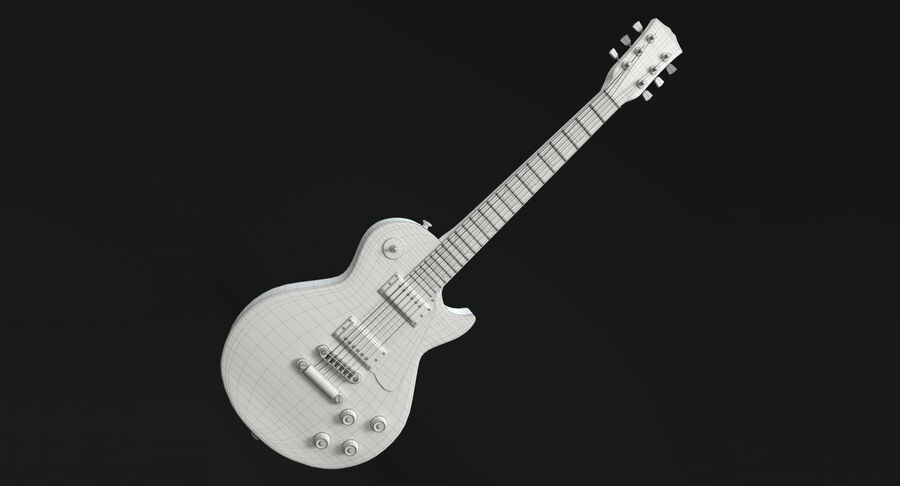 Elgitarr royalty-free 3d model - Preview no. 14