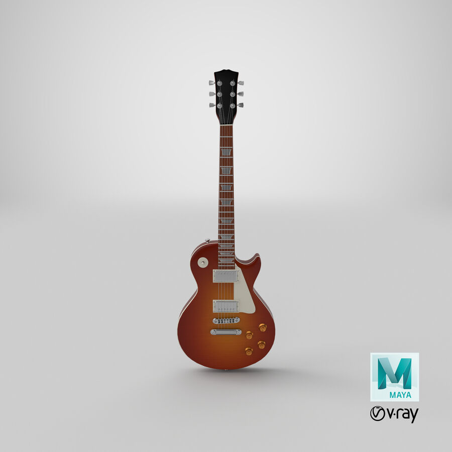 Elgitarr royalty-free 3d model - Preview no. 20