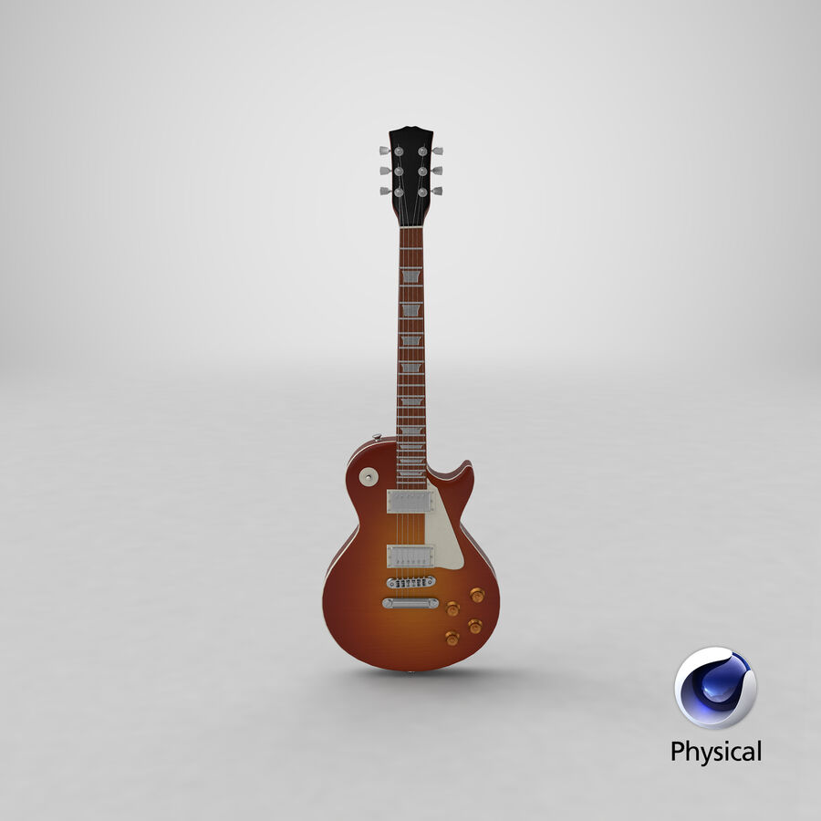 Elgitarr royalty-free 3d model - Preview no. 24