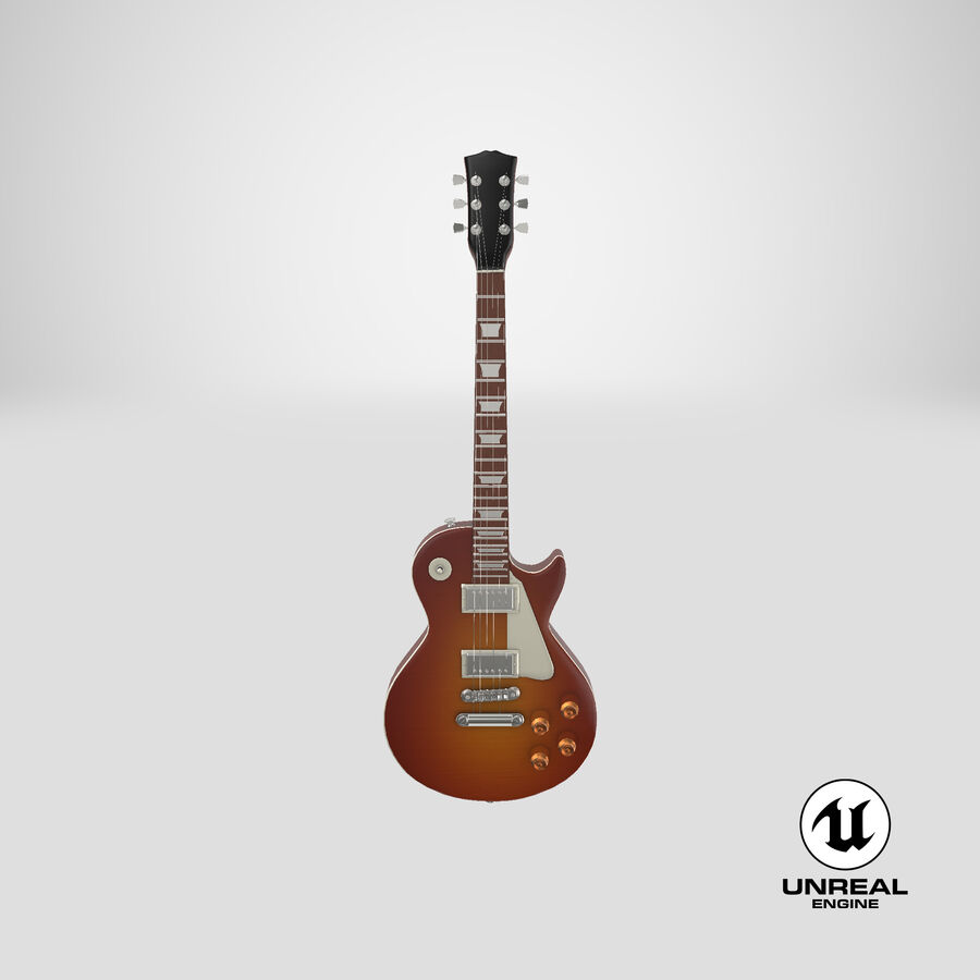 Elgitarr royalty-free 3d model - Preview no. 25