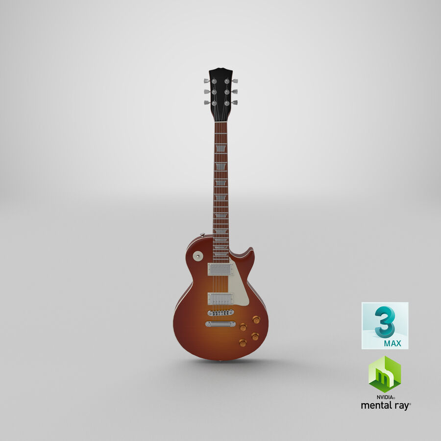 Elgitarr royalty-free 3d model - Preview no. 23