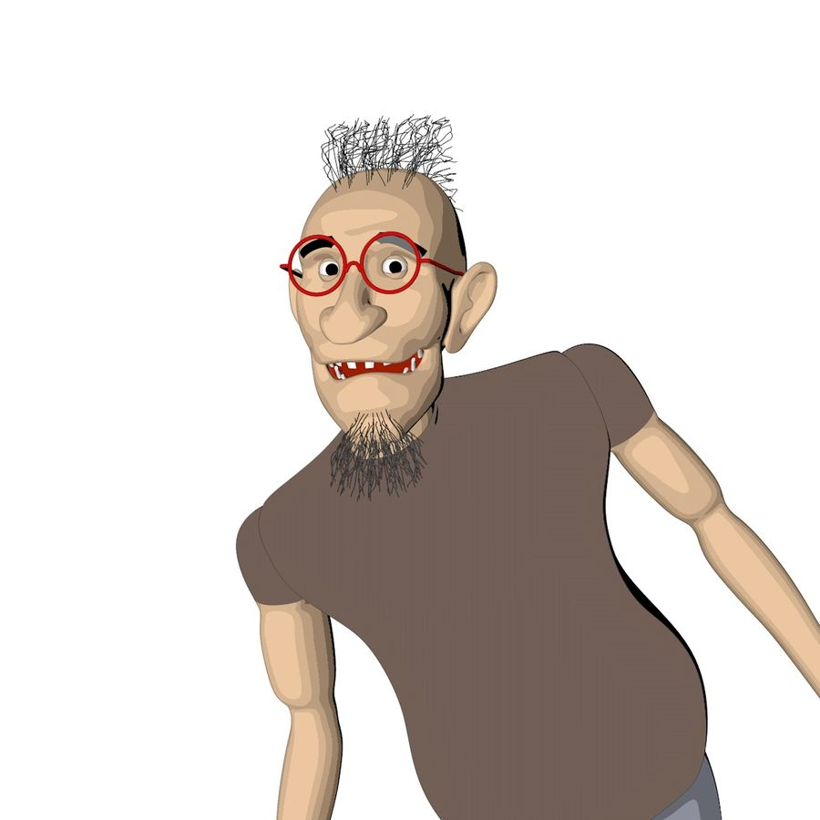 Man Rigged Character royalty-free 3d model - Preview no. 1