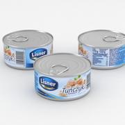 Food Can Lisner Tuna 170g 3d model