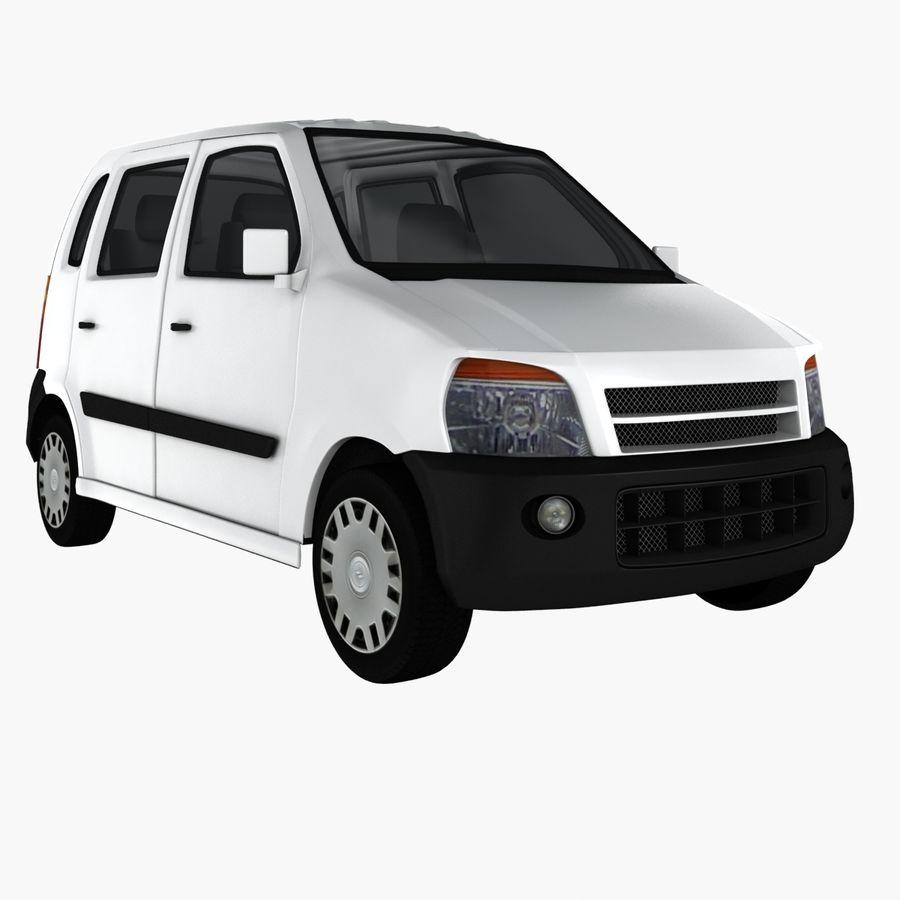 Hatchback Car royalty-free 3d model - Preview no. 2