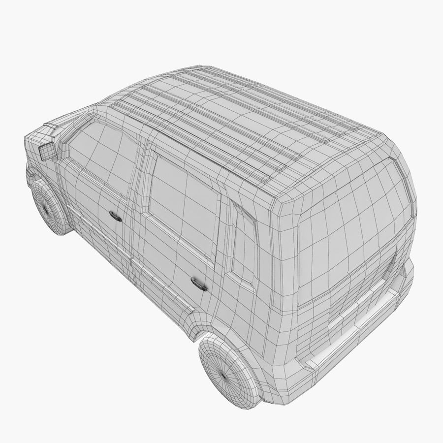 Hatchback Car royalty-free 3d model - Preview no. 10