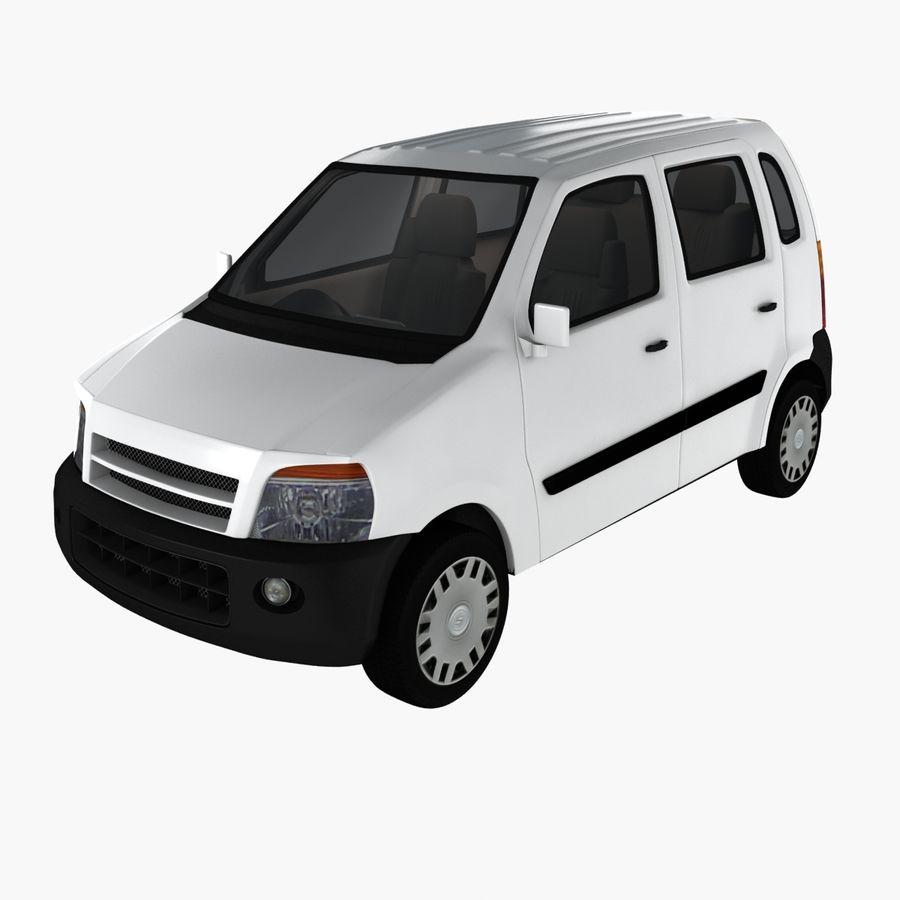Hatchback Car royalty-free 3d model - Preview no. 1