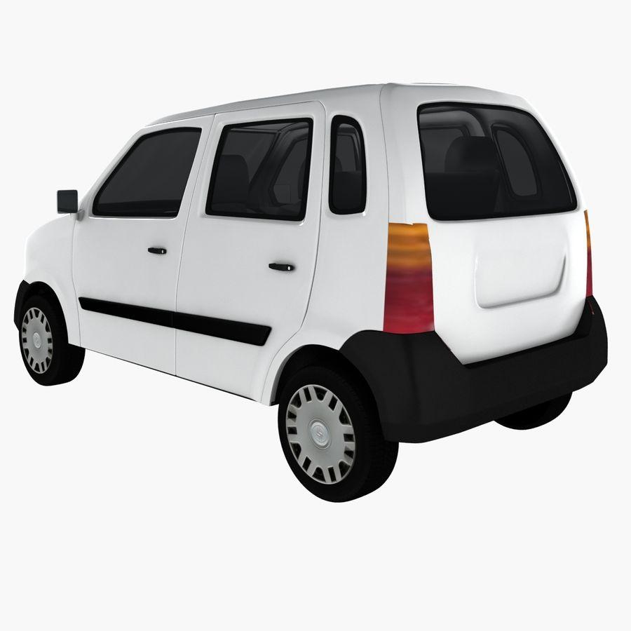 Hatchback Car royalty-free 3d model - Preview no. 4