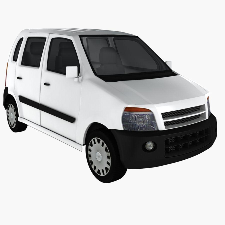 Hatchback Car royalty-free 3d model - Preview no. 3