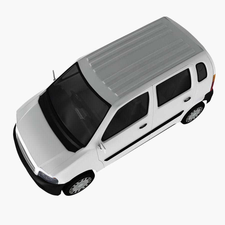 Hatchback Car royalty-free 3d model - Preview no. 6