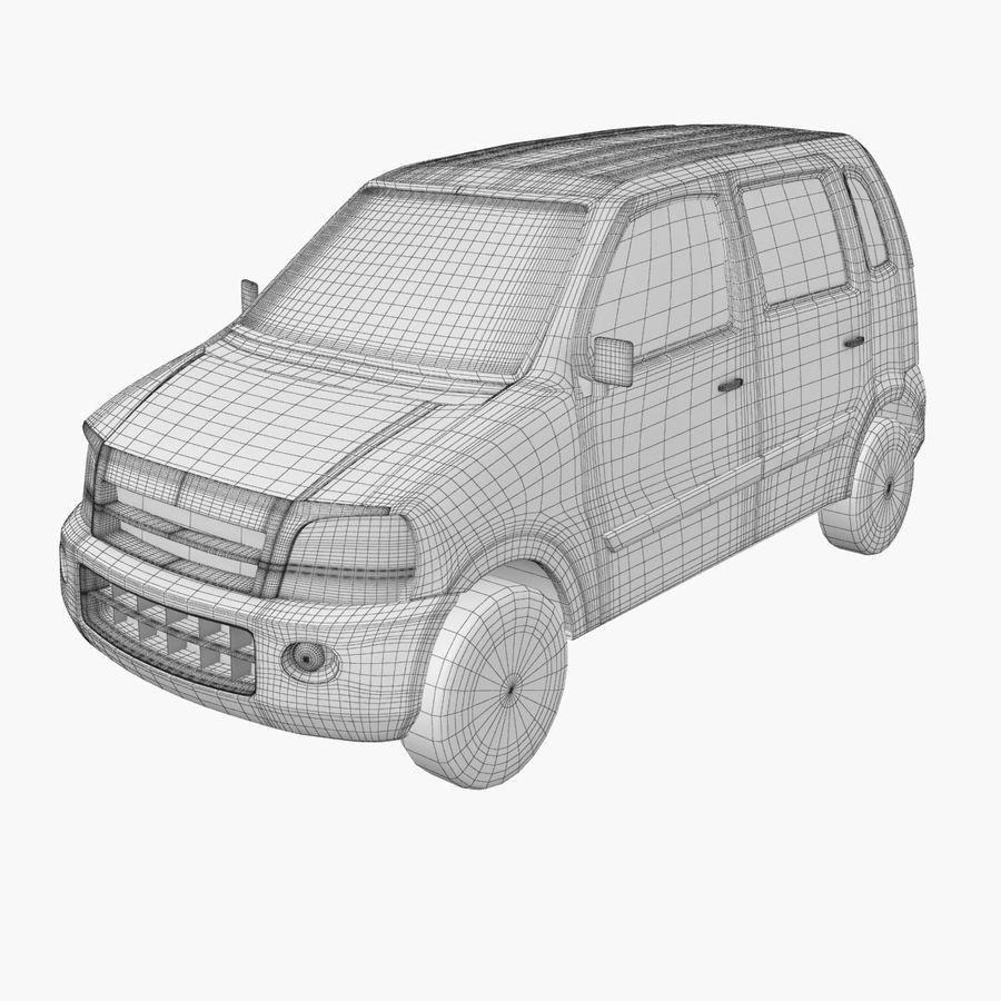 Hatchback Car royalty-free 3d model - Preview no. 8