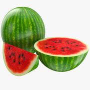 Арбуз фрукты 3d model