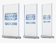 Banner Stand Roll up 3 in 1 3d model