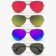 Colored Aviator Sunglasses 3d model