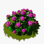 Flower Bush 01 3d model
