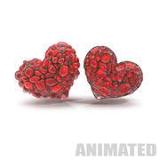 Animowane serce abstrakcyjne 3d model