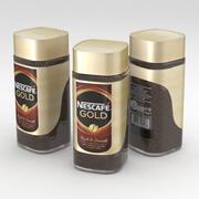 Coffe Instant Nescafe Gold Rich and Smooth 100g Jar 3d model
