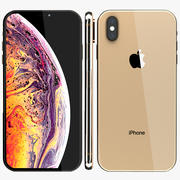 Iphone XS Max Gold 3d model