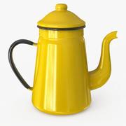Emaye Çaydanlık 3d model