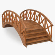 Arc Wooden Footbridge 3d model