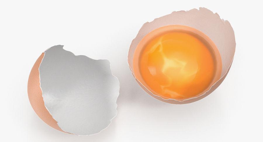 Rozbita skorupa jajka z kurczaka royalty-free 3d model - Preview no. 5