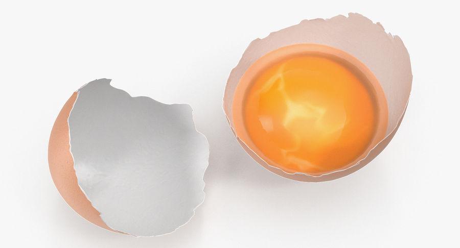 Guscio d'uovo di pollo rotto royalty-free 3d model - Preview no. 5