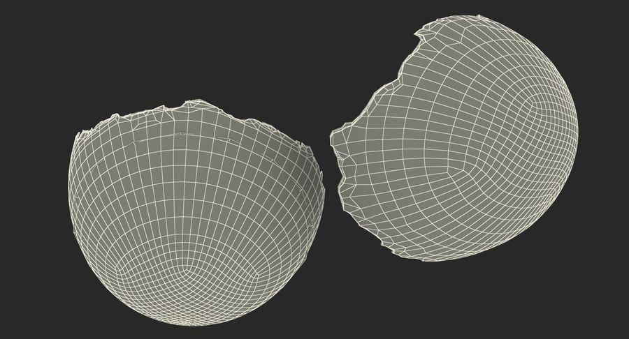 Rozbita skorupa jajka z kurczaka royalty-free 3d model - Preview no. 16