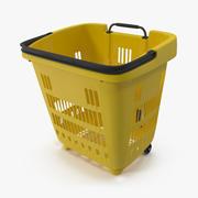 Roll Shopping Basket Modello 3D con maniglia piegata 3d model