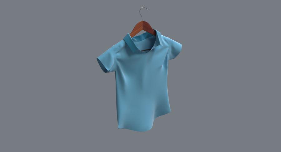 Koszulka męska + wieszak 002 royalty-free 3d model - Preview no. 3