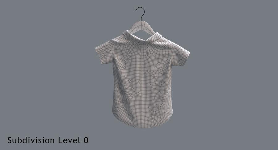 Koszulka męska + wieszak 002 royalty-free 3d model - Preview no. 15